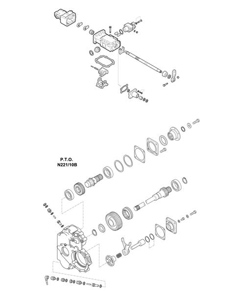 ZF Transmissions 1316 - 8S 221 - SELECTOR MECHANISM - P.T.O. (POWER TAKE OFF)