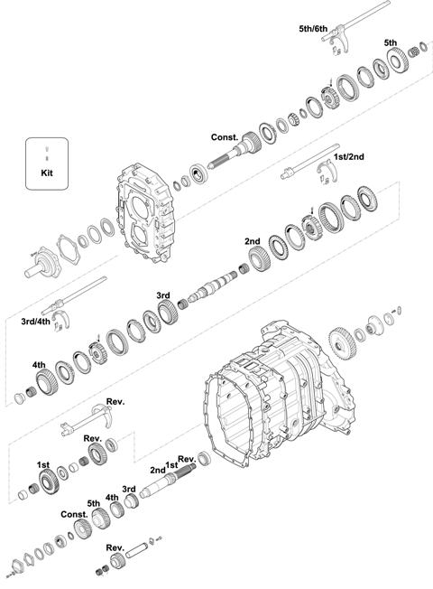 ZF Transmissions 1349 - 6S 1701 BO IT