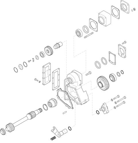 ZF Transmissions 1324 - 9S 1115 TO - P.T.O. (POWER TAKE OFF) N109/10C