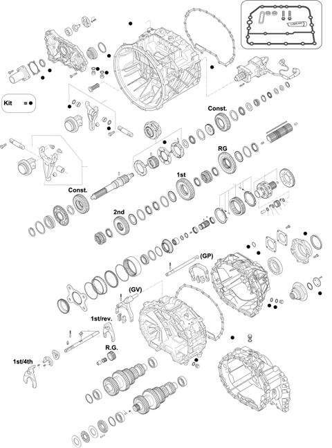 ZF Transmissions 1327 - 12 AS 1930 TO / 12 AS 1931 TO IT