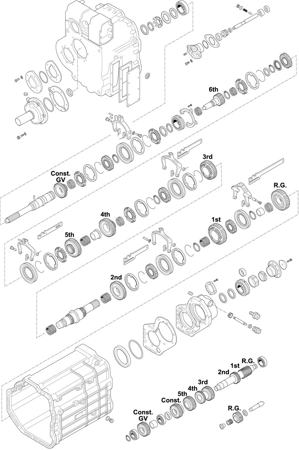 For Gearbox Series: 714.625-627-628-629-634-635-639-661-662-663-665-666-672-673 / 715.120 GV4/110-6/9,0 CHASSIS: 615/616/617/619/621/624/625/650/651/652/653/654/655/656/658/659.XXX MK and SK CHASSIS: 676.XXX - 677.XXX - 679.XXX LK