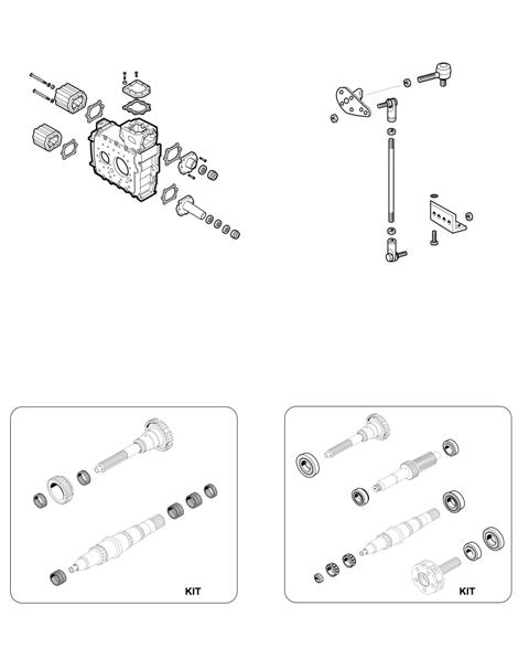 ZF Transmissions 1295 - 16S130 - SELECTOR MECHANISM - BEARING KITS