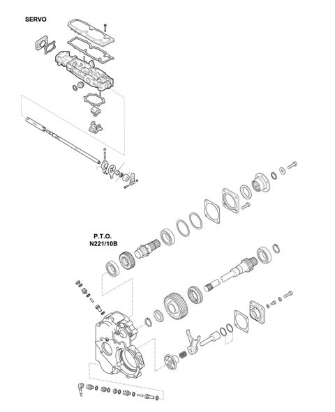 ZF Transmissions 1341 - 16S 1620 TD / 16S 1625 TD / 16S 162 TD IT / 16S 1621 TD IT / SELECTOR MECHANISM - P.T.O. (POWER TAKE OFF)