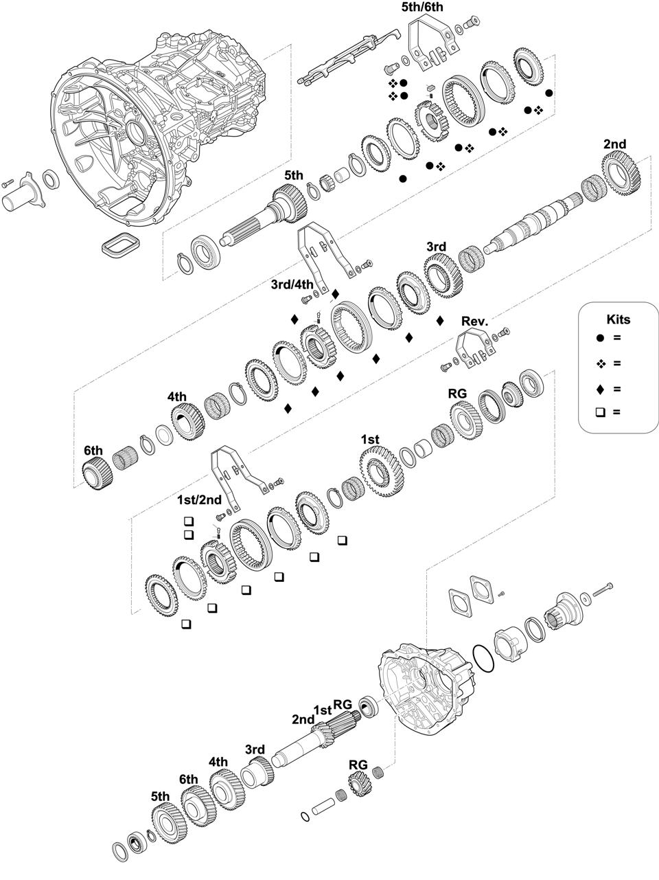 GEARBOX: ZTO1006 (6S 1000 TO) FL