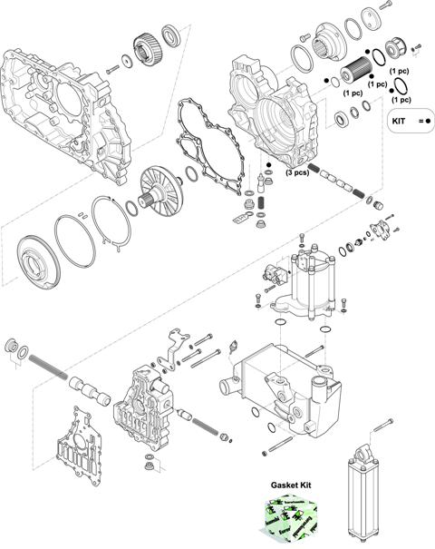 ZF Transmissions 1328 - 16 AS 2631 TO IT HOUSING, CONTROL UNIT, PUMP, HEAT EXCHANGEAR
