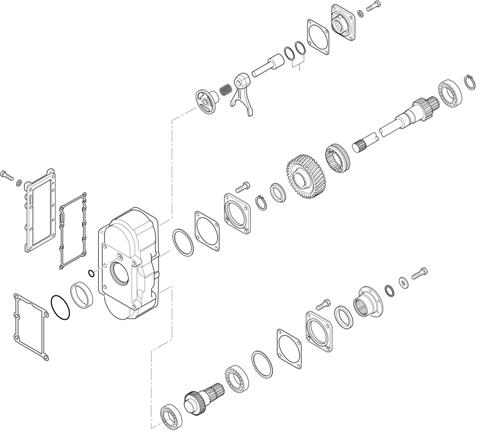 ZF Transmissions 1355 - 16 S 1835 TO / 16 S 1831 TO IT P.T.O. (POWER TAKE OFF) N221/10b