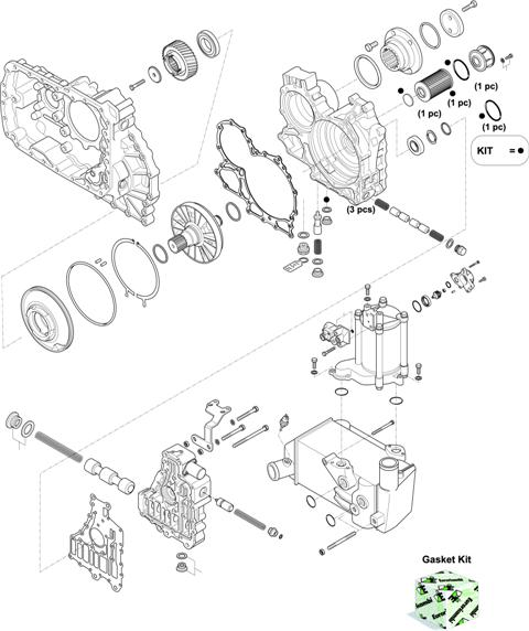 ZF Transmissions 1327 - 12 AS 2131 TO IT HOUSING, CONTROL UNIT, PUMP, HEAT EXCHANGEAR
