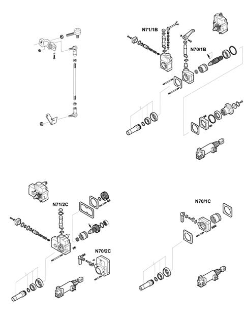ZF Transmissions 1295 - 16K130 - SELECTOR MECHANISM - P.T.O. (POWER TAKE OFF)