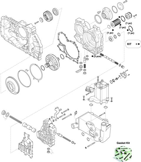 ZF Transmissions 1327 - 12 AS 1931 TO IT HOUSING, CONTROL UNIT, PUMP, HEAT EXCHANGEAR