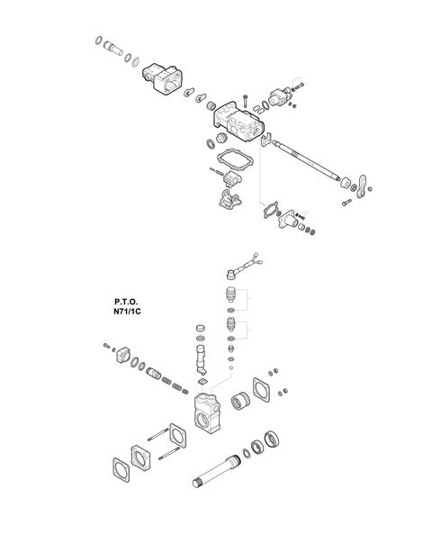 ZF Transmissions 1315 - 8S 151 - SELECTOR MECHANISM - P.T.O. (POWER TAKE OFF)