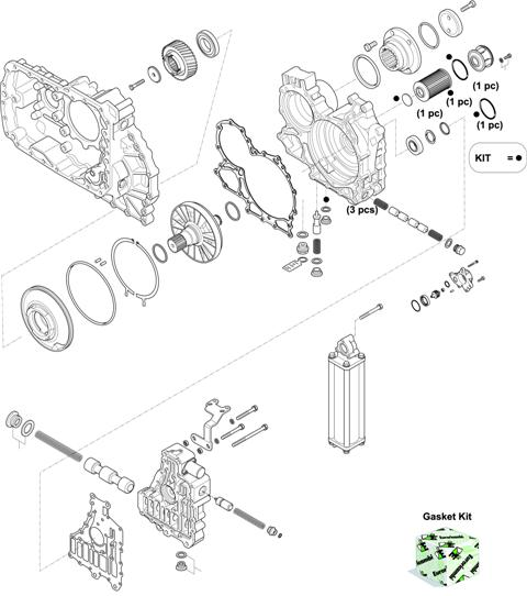 ZF Transmissions 1329 - 12 AS 2741 TO IT HOUSING, CONTROL UNIT, PUMP, HEAT EXCHANGEAR
