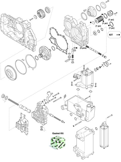 ZF Transmissions 1327 - 12 AS 2331 TO IT HOUSING, CONTROL UNIT, PUMP, HEAT EXCHANGEAR