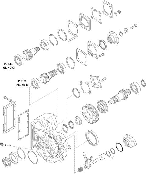 ZF Transmissions 1346 - 6 AS 1005 TO P.T.O. (POWER TAKE OFF) NL 10 B / NL 10 C