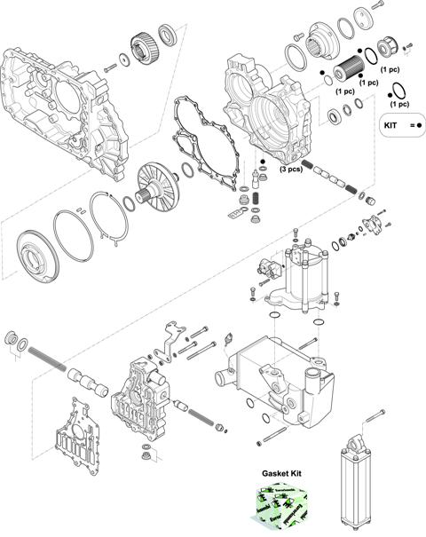 ZF Transmissions 1329 - 12 AS 2941 TO IT HOUSING, CONTROL UNIT, PUMP, HEAT EXCHANGEAR