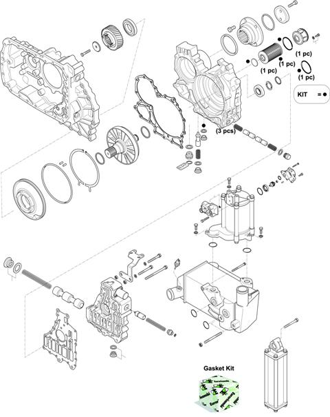 ZF Transmissions 1353 - 12 AS 2531 TO IT HOUSING, CONTROL UNIT, PUMP, HEAT EXCHANGEAR