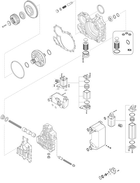 ZF Transmissions 1324 - 9S 1311 TO IT - HOUSING - CONTROL UNIT - PUMP - HEAT EXCHANGER